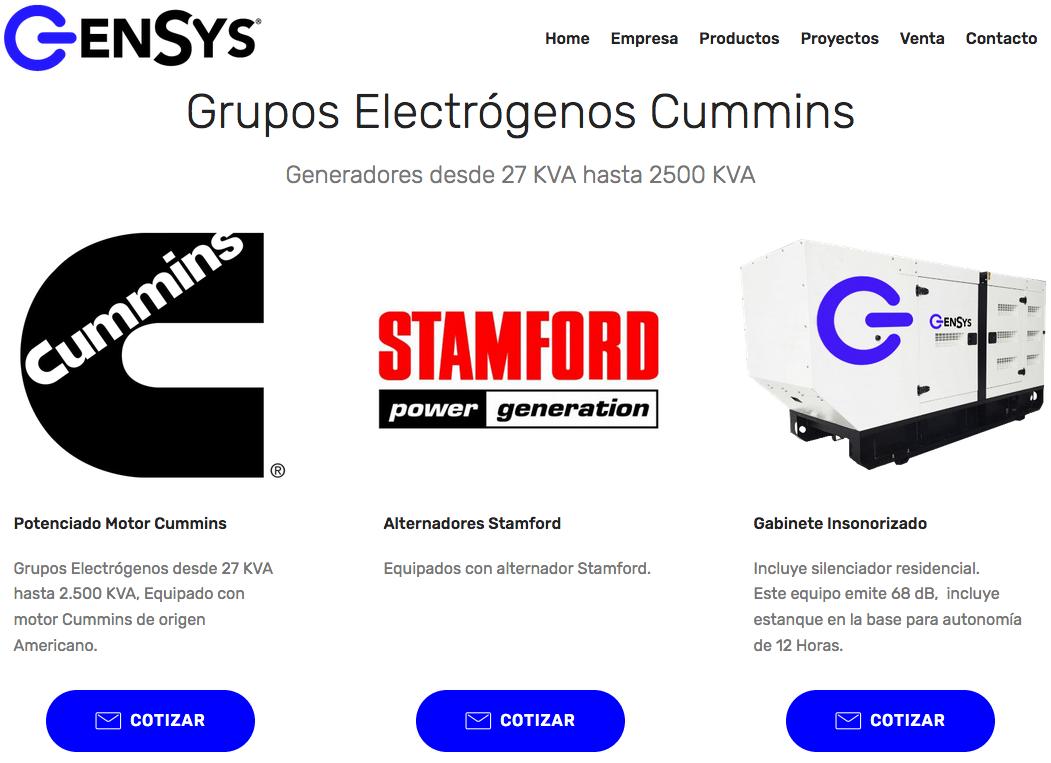 Grupos electrógenos Perkins en Chile
