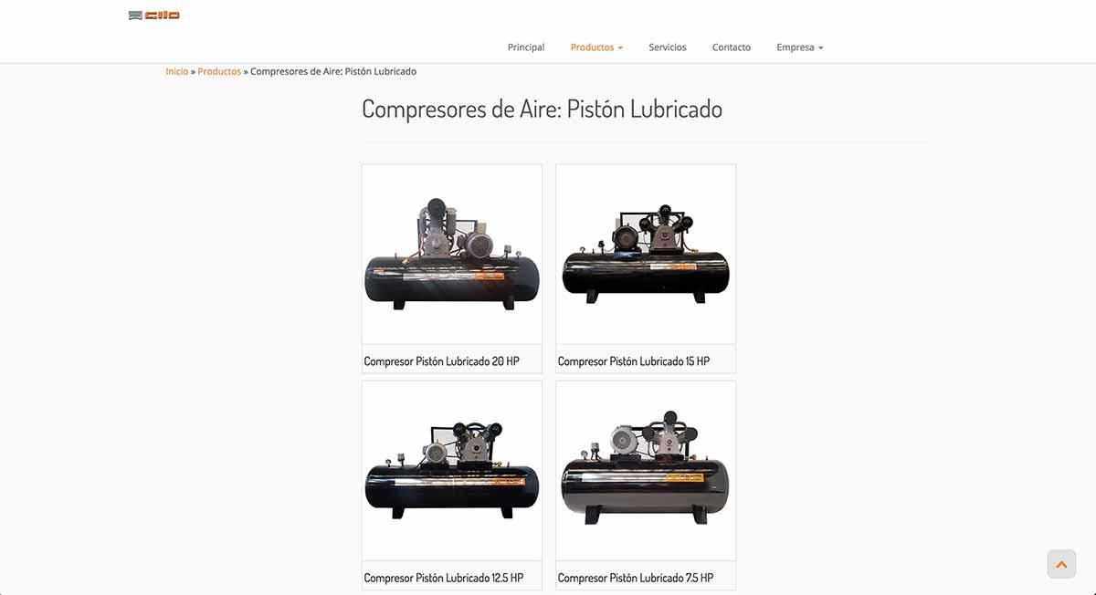 Gilo, compresores industriales en Chilee