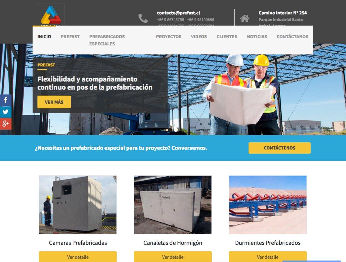 Prefast, empresa de prefabricados de hormigón en Chile