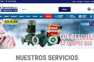 Gaspa Services, servicio para mantenimiento de bombas de agua potable