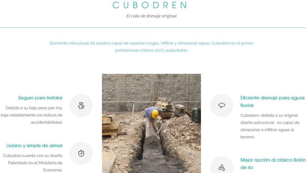 Cubodren, venta de módulos y cubos de drenaje en Chile