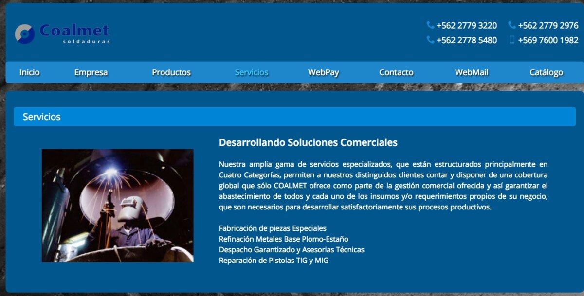 Coalmet, empresa de soldaduras especiales en Santiago